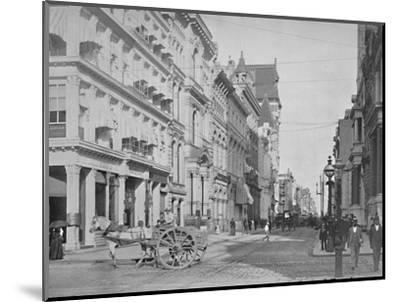 'Chestnut Street, Philadelphia', 19th century-Unknown-Mounted Photographic Print