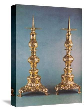 'Candlesticks, c.1662', 1953-Unknown-Stretched Canvas Print