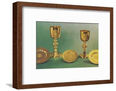 'Chalices and patens', 1953-Unknown-Framed Photographic Print