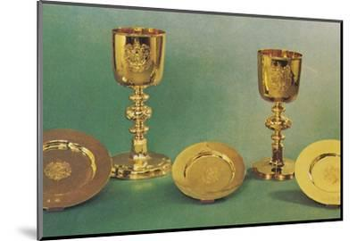 'Chalices and patens', 1953-Unknown-Mounted Photographic Print