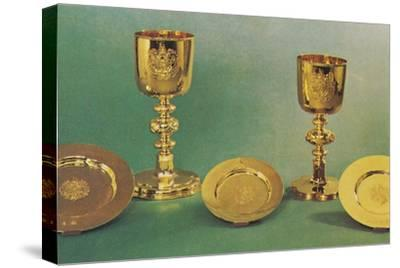 'Chalices and patens', 1953-Unknown-Stretched Canvas Print
