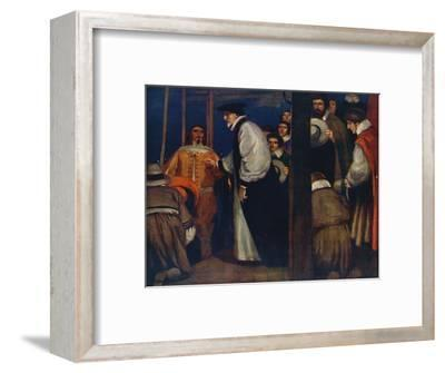 'Laud entering the Barge at Lambeth to go to the Tower', 1912-Unknown-Framed Giclee Print