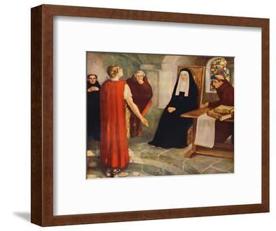 'Caedmon before Saint Hilda', 1912-Unknown-Framed Giclee Print