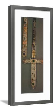 'Hilt and scabbard of the Jewelled State Sword', 1953-Unknown-Framed Photographic Print