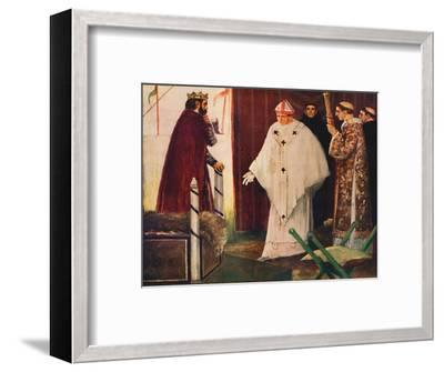 'Langston's interview with King John', 1912-Unknown-Framed Giclee Print