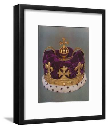 'The crown made for the Prince of Wales in 1729', 1953-Unknown-Framed Photographic Print