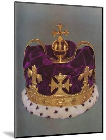 'The crown made for the Prince of Wales in 1729', 1953-Unknown-Mounted Photographic Print