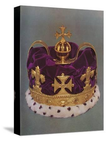 'The crown made for the Prince of Wales in 1729', 1953-Unknown-Stretched Canvas Print