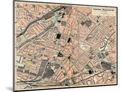 'Central Manchester', c20th Century-John Bartholomew-Mounted Giclee Print