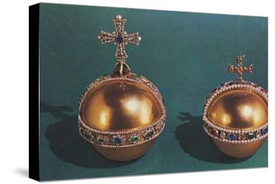 'The Sovereign's Orb and Queen Mary II's Orb', 1953-Unknown-Stretched Canvas Print