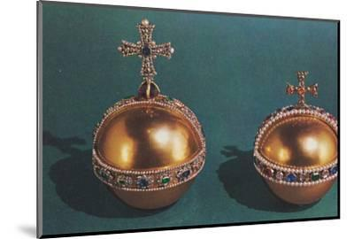 'The Sovereign's Orb and Queen Mary II's Orb', 1953-Unknown-Mounted Photographic Print