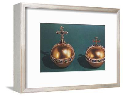 'The Sovereign's Orb and Queen Mary II's Orb', 1953-Unknown-Framed Photographic Print