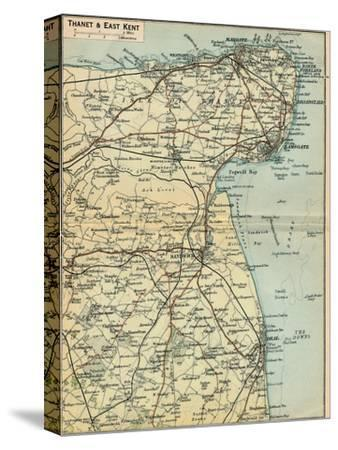 'Thanet & East Kent', c20th Century-John Bartholomew-Stretched Canvas Print