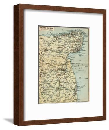 'Thanet & East Kent', c20th Century-John Bartholomew-Framed Giclee Print