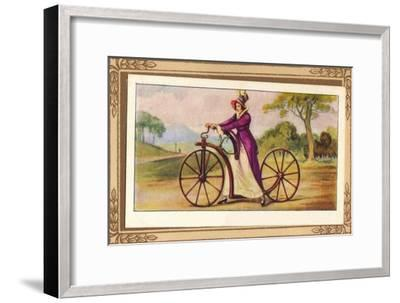'Lady's Pedestrian Hobby-Horse', 1819, (1939)-Unknown-Framed Giclee Print