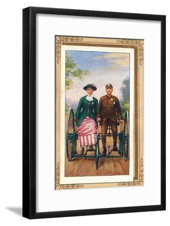 'Sociable Tricycle', 1939-Unknown-Framed Giclee Print