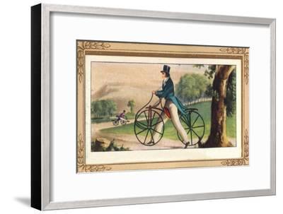 'Pedestrian Hobby-Horse', 1819, (1939)-Unknown-Framed Giclee Print