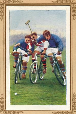 'Bicycle Polo', 1939-Unknown-Framed Giclee Print