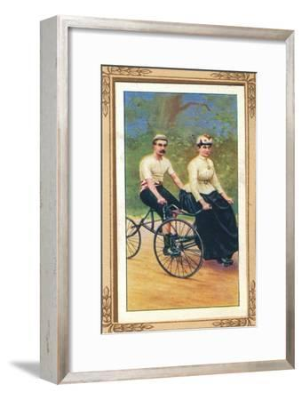 Invincible Tandem Tricycle', 1939-Unknown-Framed Giclee Print