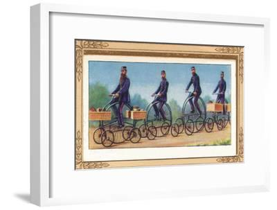 'Post Office Centre-Cycles', 1939-Unknown-Framed Giclee Print