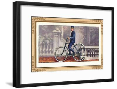 'The First Pneumatic-Tyred Bicycle', 1939-Unknown-Framed Giclee Print