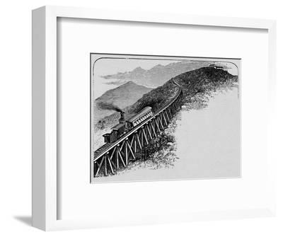 'Mount Washington Railway', 1883-Unknown-Framed Giclee Print
