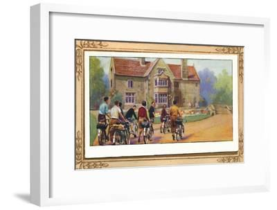 'Cyclists & The Y.H.A.', 1939-Unknown-Framed Giclee Print