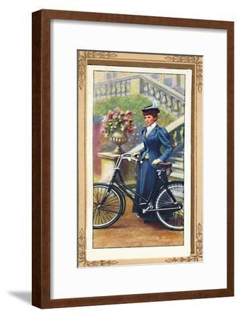 'Lady Cyclist, 1896', 1939-Unknown-Framed Giclee Print