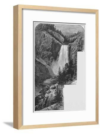'The Lower Falls', 1883-Unknown-Framed Giclee Print