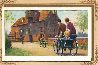 'Family Tandem with Side-Car', 1939-Unknown-Framed Giclee Print