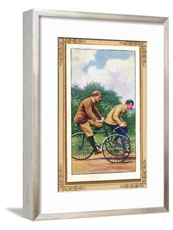 'Olympia Tandem Tricycle', 1939-Unknown-Framed Giclee Print