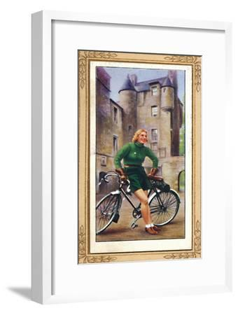 'Lady Cyclist, 1939', 1939-Unknown-Framed Giclee Print