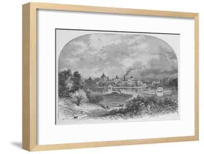 'Government Buildings on Ward's Island', 1883-Unknown-Framed Giclee Print