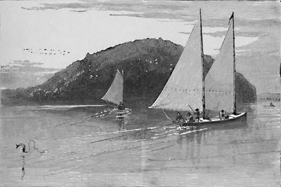 'Fishing from a sail-boat', 1883-Unknown-Framed Giclee Print