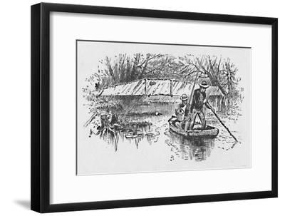 'Perch-Fishing on the Lake', 1883-Unknown-Framed Giclee Print