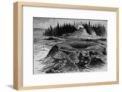 'Castle Geyser and Fire Basin', 1873, (1883)-Unknown-Framed Giclee Print