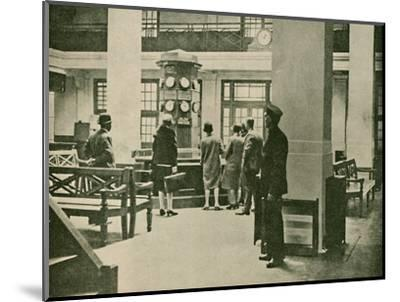 'Entrance Hall, London Air Station', 1927-Unknown-Mounted Photographic Print