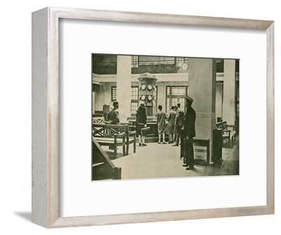 'Entrance Hall, London Air Station', 1927-Unknown-Framed Photographic Print