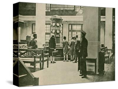 'Entrance Hall, London Air Station', 1927-Unknown-Stretched Canvas Print