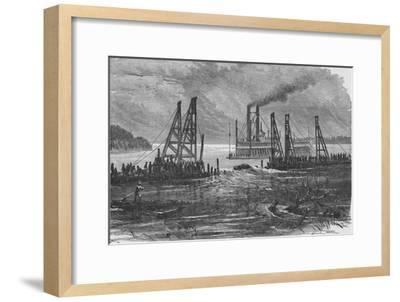 'Removing Snags by Dredging', 1883-Unknown-Framed Giclee Print