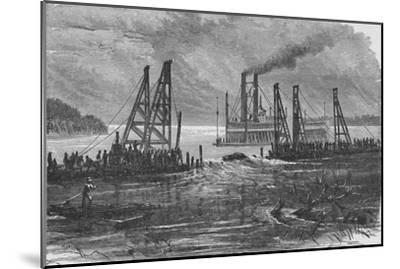 'Removing Snags by Dredging', 1883-Unknown-Mounted Giclee Print