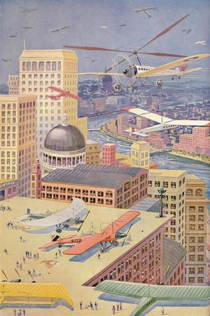 'A City of the Future', 1927-Unknown-Framed Giclee Print