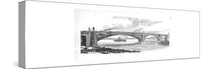 'The Bridge across the Mississippi at St. Louis', 1883-Unknown-Stretched Canvas Print