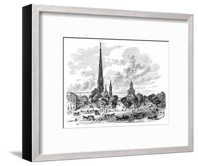 'Main Street, Buffalo, opposite the Churches', 1883-Unknown-Framed Giclee Print