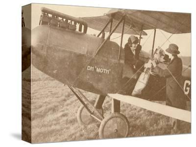 'By Air to the Golf Links in a Little 27-60 HP 'Moth' Light 'Plane', 1927-Unknown-Stretched Canvas Print