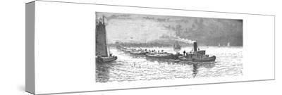 'Grain-Vessels leaving Chicago', 1883-Unknown-Stretched Canvas Print