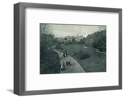 'Boscombe Gardens', c1910-Unknown-Framed Photographic Print