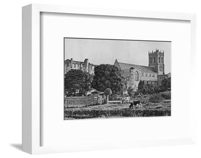 'Christchurch Priory', c1910-Unknown-Framed Photographic Print