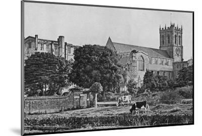 'Christchurch Priory', c1910-Unknown-Mounted Photographic Print