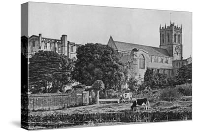 'Christchurch Priory', c1910-Unknown-Stretched Canvas Print